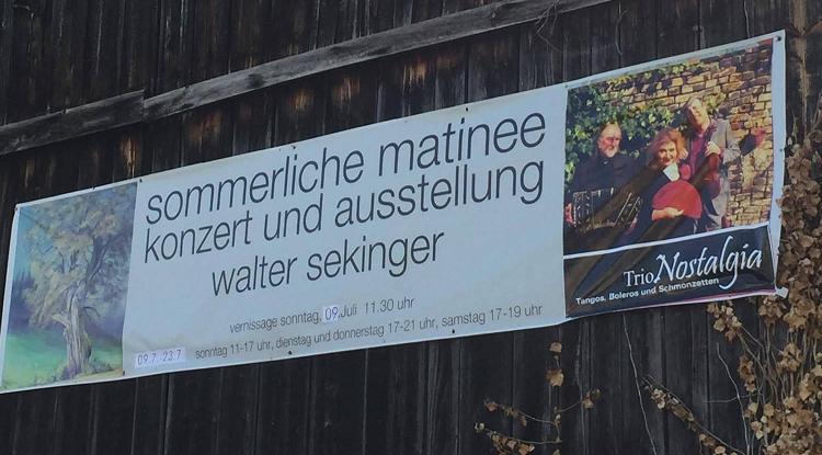 Matinee Walter Sekinger Herbolzheim 2017 Plakat